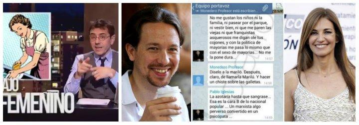 Un tuitero desmonta con una imagen demoledora el falso feminismo de Iglesias y Monedero