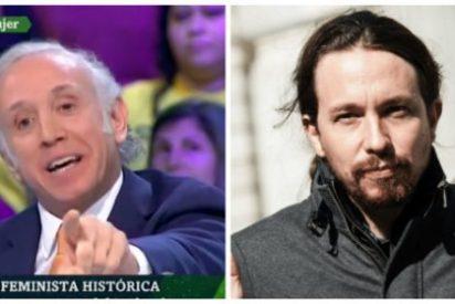 Eduardo Inda destroza el falso feminismo de Podemos recordando tres actos cavernícolas de Pablo Iglesias