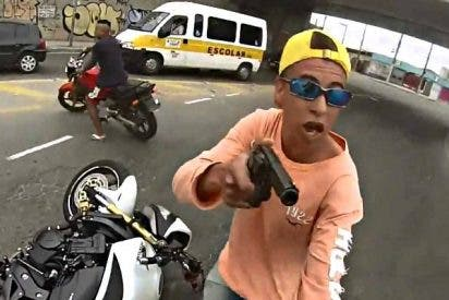 Atraco y muerte del ladrón de la moto