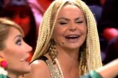 Leticia Sabater pierde los papeles y la peluca en el debate de 'Supervivientes'