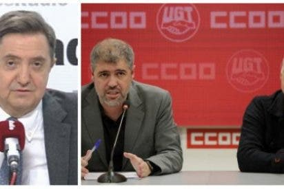 """Losantos extermina a UGT y CCOO por unirse al golpismo: """"Zafias marionetas prestas a la destrucción de España"""""""