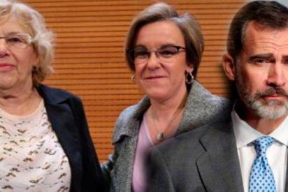 Carmena se alía con el PSOE para faltar al respeto a la Corona Española retirando el nombre de Felipe VI de su mayor parque