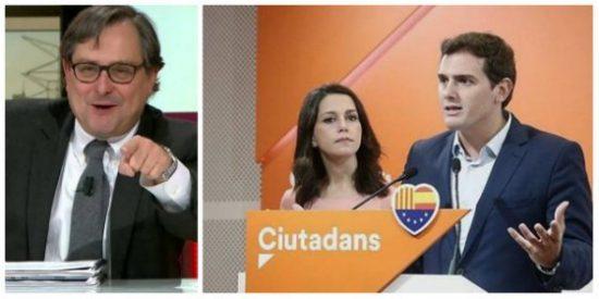 Marhuenda, a golpe de editorial, espabila en Cataluña a los pasivos de Ciudadanos