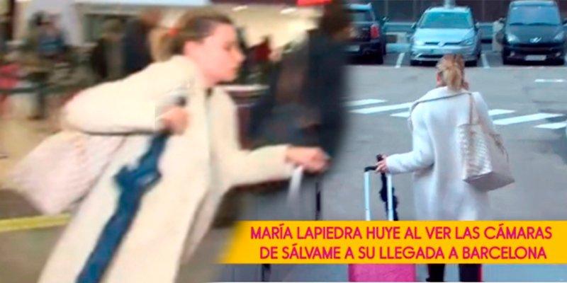 María Lapiedra y su ridícula huida al ver en Barcelona a una reportera de 'Sálvame'