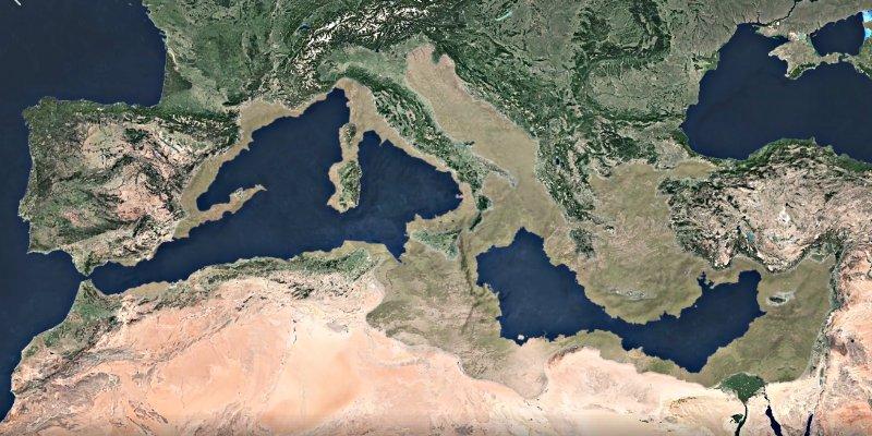 """El Mediterráneo se llenó con una """"mega cascada"""" y en sólo dos años"""