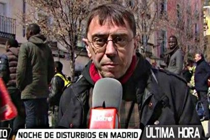 El juez 'empapela' a Monedero por mentir la muerte del mantero en Madrid