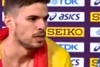 Óscar Husillos descalificado tras ganar el Mundial de atletismo