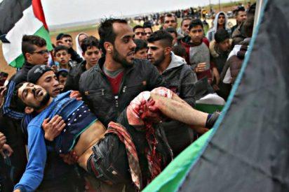 Gaza: once palestinos muertos y 500 heridos al intentar saltarse barreraes en la frontera israelí