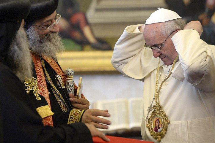 "Tawadros, a Francisco: ""¡Cristo ha Resucitado, verdaderamente ha Resucitado!"""