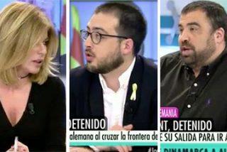 """Los tertulianos de Telecinco rebozan por el fango al penoso independentista: """"¡De qué planeta vienes!"""""""