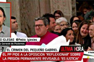 """¿Se mofa Pablo Iglesias de la ciudadanía o del pequeño Gabriel: """"La prisión permanente no hubiese evitado su muerte"""""""