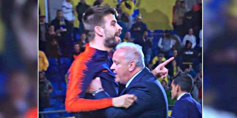 Gerard Piqué se fue a por el árbitro Mateu Lahoz tras el Las Palmas-Barça y no ha sido sancionado