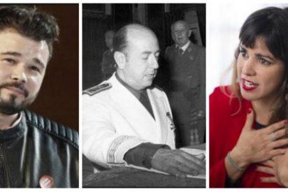El hijo de un ministro franquista le soba los morros a Rufián y 'Kichi Woman' citándoles en los juzgados