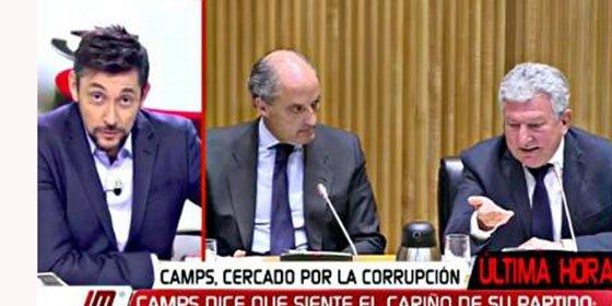 """Javier Ruiz pierde el 'oremus' insultando en directo a Camps: """"Jeta, trilero y chulo"""""""