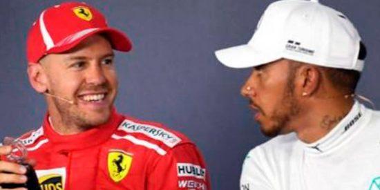 El tenso y desagradable encontronazo de Sebastian Vettel y Lewis Hamilton en la rueda de prensa