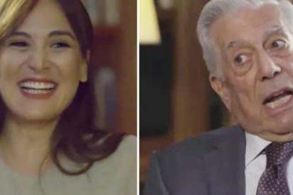 Tamara Falcó deja estupefacto a Vargas Llosa con sus pifiazos en la entrevista que la hija de Isabel Preysler hace al escritor