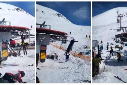 Brutal vídeo: el telesilla 'asesino' destroza a decenas de esquiadores