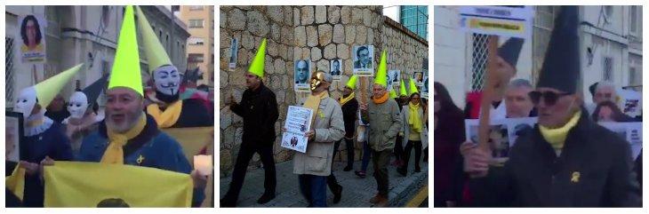 300 independentistas 'procesionan' por los'presos políticos' en Tarragona