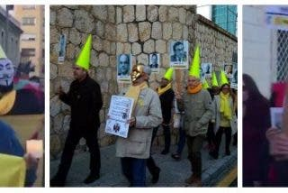"""Los tontos de capirote independentistas marchan en """"procesión por los presos políticos"""""""
