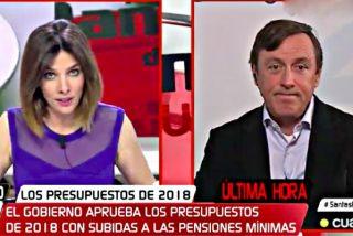 'Cuatro TV': Tremendo repaso del popular Rafa Hernando a la periodista Verónica Sanz