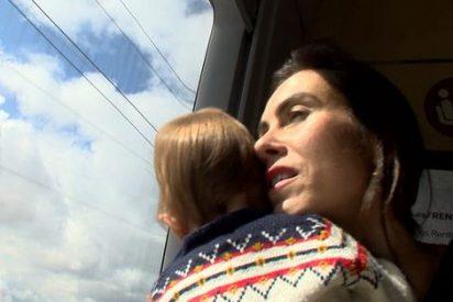 El indecente montaje de la pobre mujer del millonario Cuixart con su bebé