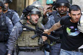 Así dispersa la policía israelí a manifestantes en Cisjordania