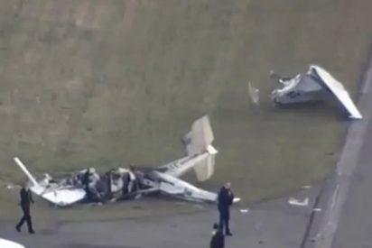Terrible colisión de dos aviones en EE.UU.