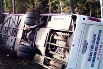 Este accidente de autobús con 40 niños a bordo deja 1 muerto y varios heridos
