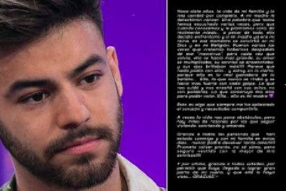 La emotiva carta de Agoney a su madre fallecida