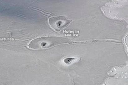 Estos misteriosos agujeros en el hielo del Ártico desconciertan a la NASA