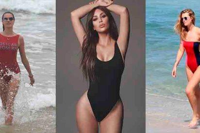 ¿Sabes cuáles son la nuevas tendencias de bañadores que lucen las famosas?