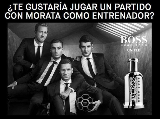 Álvaro Morata se estrena como entrenador de la mano de Boss Bottled