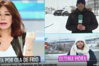 El día que un reportero le pidió unos guantes a Ana Rosa