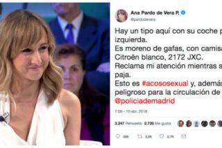 Pardo de Vera (Público Today) denuncia en Twitter que un conductor se hizo una 'manola' delante de ella