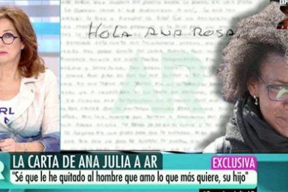 Ana Rosa Quintana hace trizas en televisión la carta enviada por la asesina Ana Julia Quezada