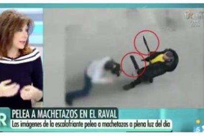 Ana Rosa le mete un machetazo a Ada Colau por permitir salvajes peleas en pleno centro de Barcelona