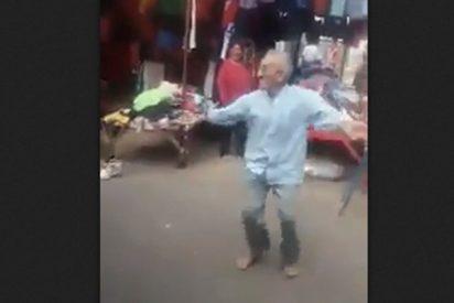 Este anciano arrasa con su hipnótica y viral coreografía