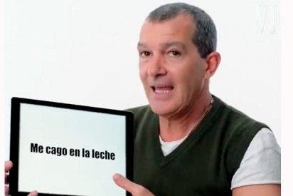 """Antonio Banderas explica a los estadounidenses expresiones como """"me cago en la leche"""""""