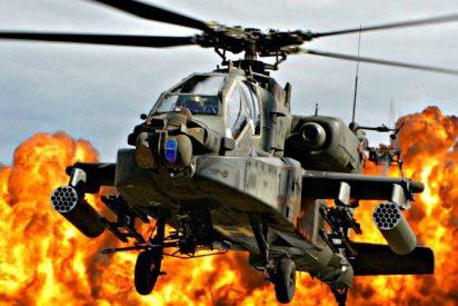 El helicóptero 'Apache' acribilla a dos jefes del ISIS y sus sicarios