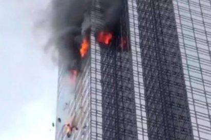 Arde la Torre Trump en Nueva York