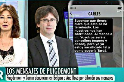 """Ana Rosa a Puigdemont: """"En democracia hay un cuarto poder que vigila a los otros tres"""""""