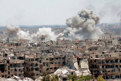 Así ataca Siria posiciones del Estado Islámico al sur de Damasco