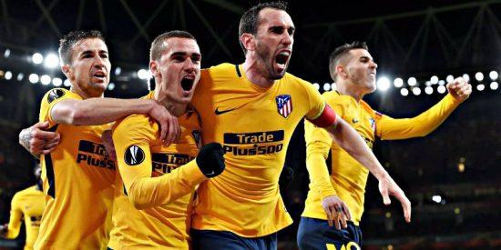 El Atlético hace magia en el Emirates y con 10 deja K.O. al Arsenal