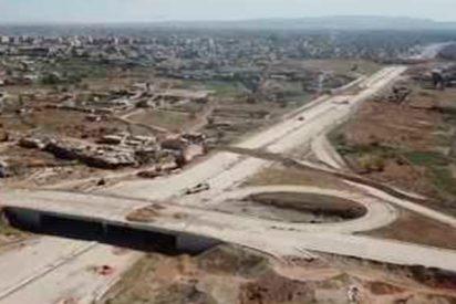 En este estado está la autopista clave siria que conecta Damasco y Guta tras 7 años de bloqueo