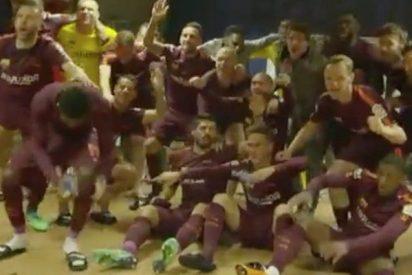 Así celebró el Barça en el vestuario su victoria: 'El baile de Messi es brutal'