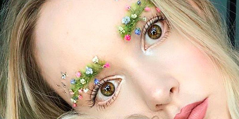 Un jardín en tus cejas; el nuevo capricho de las redes en maquillaje