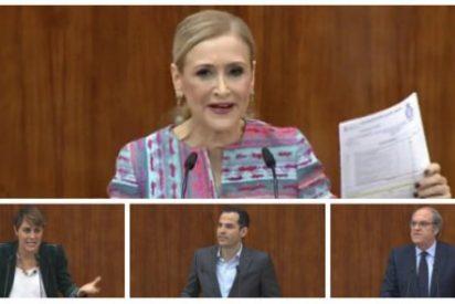 """Cristina Cifuentes tritura a la oposición en el pleno-aquelarre del máster: """"¿Qué será lo próximo que inventen?"""""""