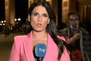 Un 'zombi' se cuela en la crónica en directo del Telediario de TVE desde Berlín