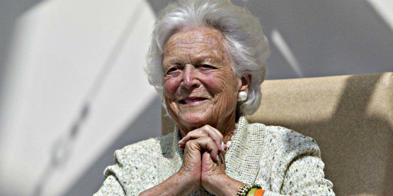 Muere Barbara Bush, esposa y madre de presidentes de Estados Unidos