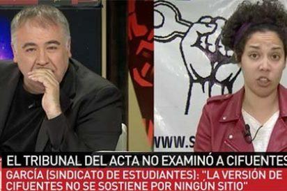 Ferreras recurre a la subvencionada y treintañera sindicalista estudiantil para que diga que los estudiantes están indignados con el máster de Cifuentes